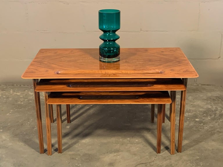 Mid-20th Century Ico Parisi Nesting Tables, Italy, circa 1950s For Sale