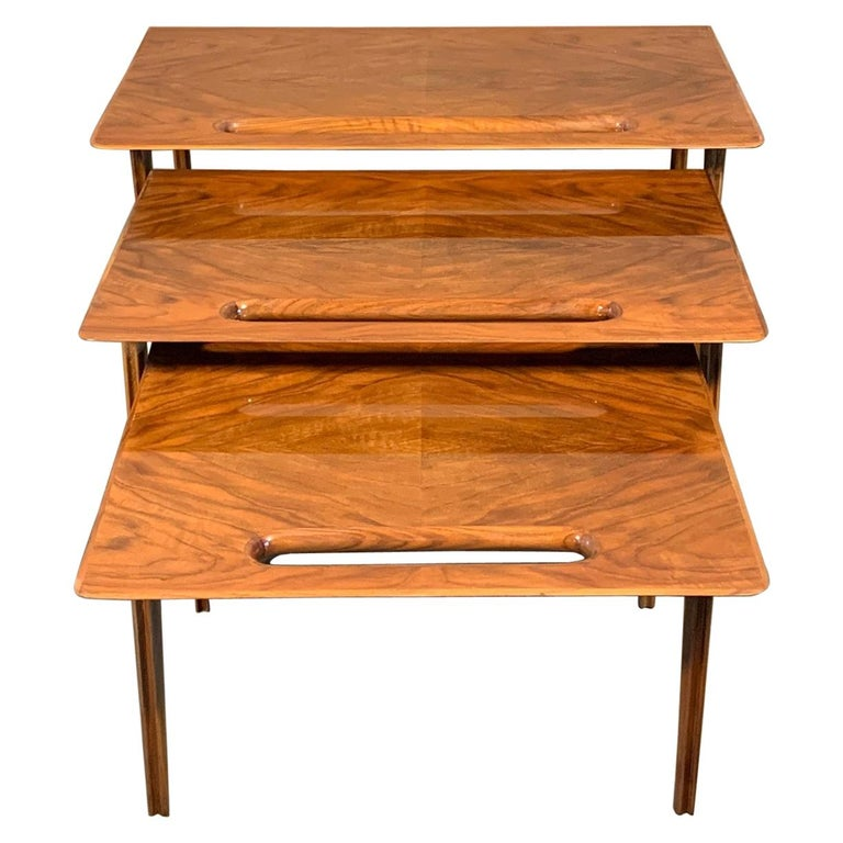 Ico Parisi Nesting Tables, Italy, circa 1950s For Sale