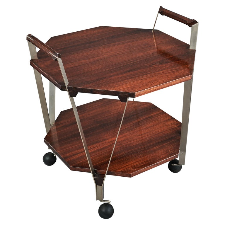 Ico Parisi Octagonal Rolling Cart, Italy, 1959 For Sale