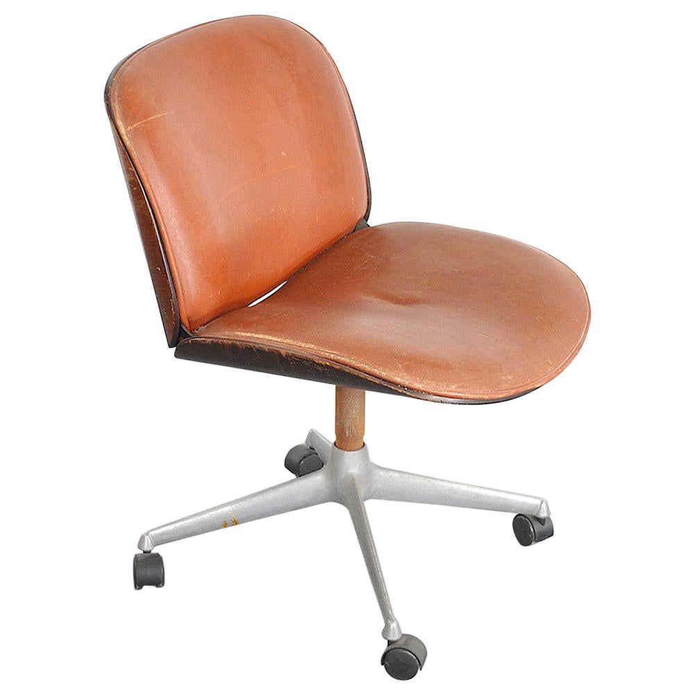 Ico Parisi Office Chair, 1970s