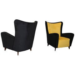 Ico Parisi Pair of Rare Armchairs