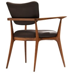 Ico Parisi Rare Armchair in Walnut