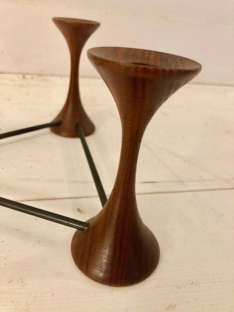 Ico Parisi Rosewood Candelabra For Sale 1