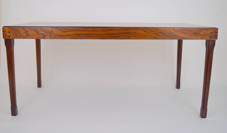 Mid-Century Modern Ico Parisi Rosewood Expanding Dining Table for MIM For Sale