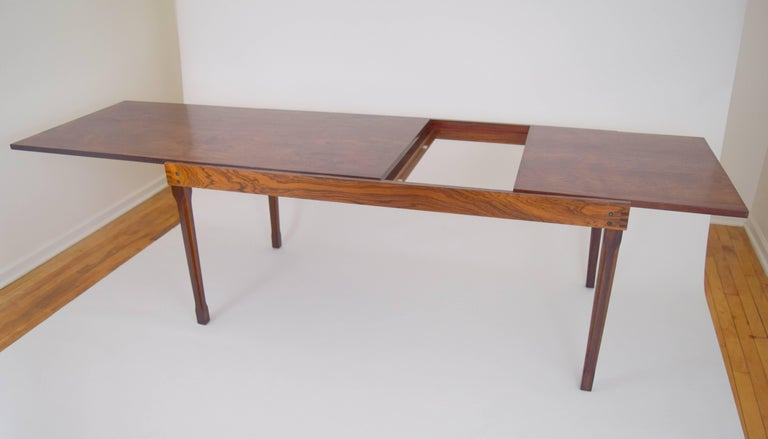 Ico Parisi Rosewood Expanding Dining Table for MIM For Sale 1