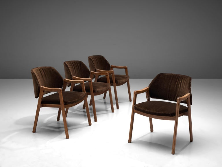 Ico Pairisi for Cassina, four armchairs