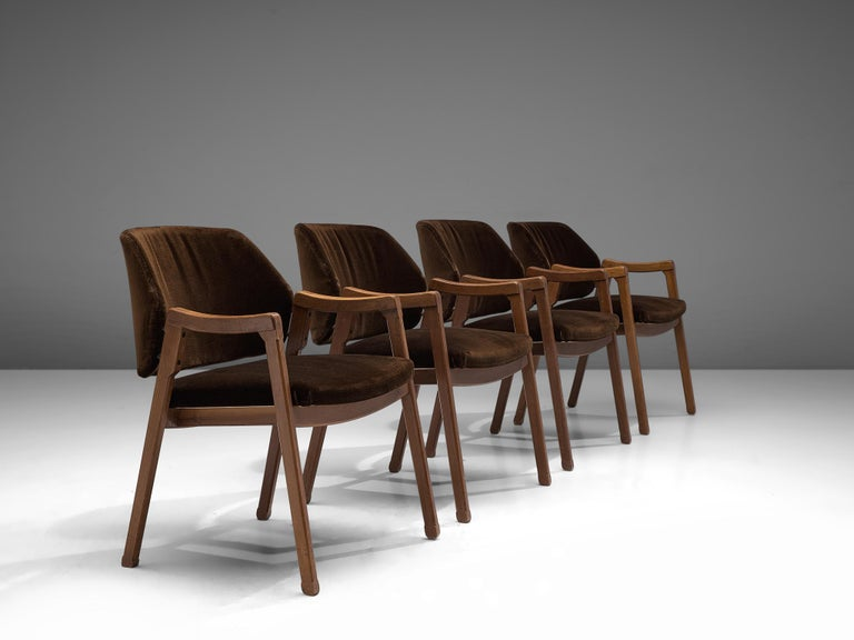 Mid-Century Modern Ico Parisi Set of Four Armchairs for Cassina For Sale