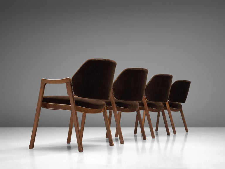 Italian Ico Parisi Set of Four Armchairs for Cassina For Sale