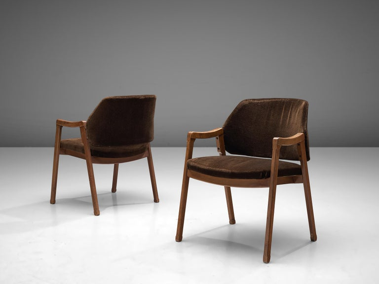 Ico Parisi Set of Four Armchairs for Cassina In Good Condition For Sale In Waalwijk, NL