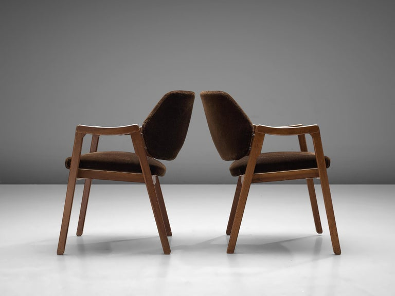 1960s Ico Parisi Set of Four Armchairs for Cassina For Sale