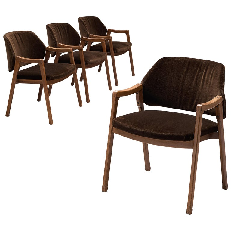 Ico Parisi Set of Four Armchairs for Cassina For Sale