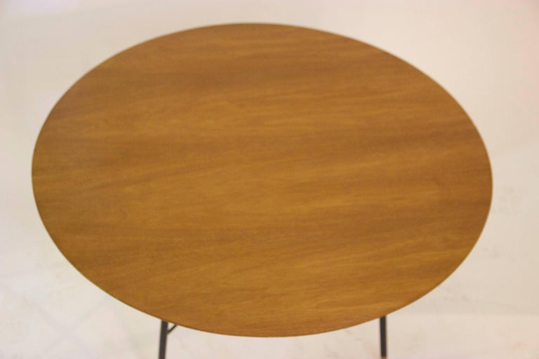 Mid-Century Modern Ico Parisi, Set of Four Coffee Tables, Wooden Top, Lacquered Iron Base