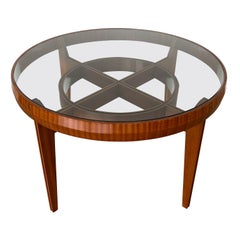 Ico Parisi Style Italian Walnut Center Table / Dining Table