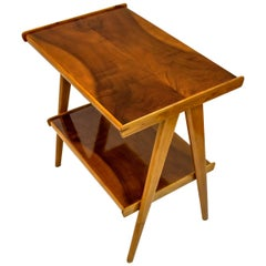 Ico Parisi Style Mid-Century Modern Italian Walnut Coffee Table, 1950s