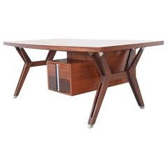 Ico Parisi Terni Executive Desk Rosewood Mim Roma, Italy, 1958