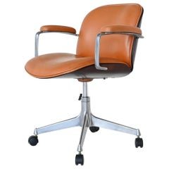 Ico Parisi Terni Swivel Desk Chair MIM Roma, Italy, 1960