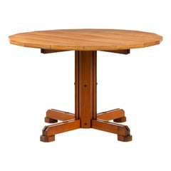 Ico Parisi, Unique Piece Walnut Table with 16 Sides