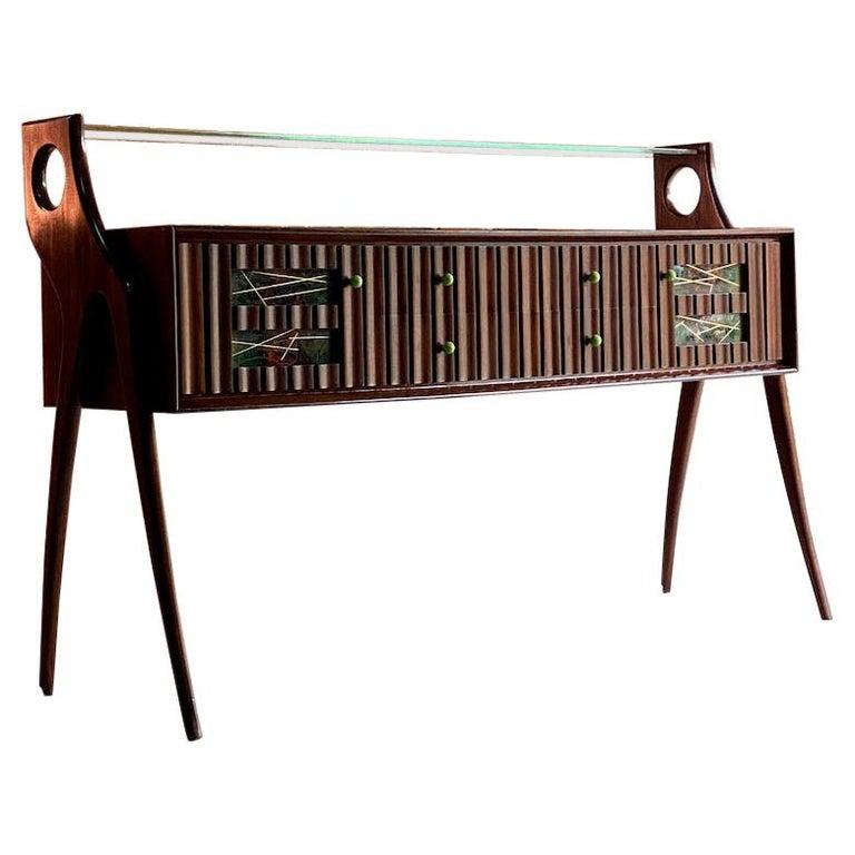 Ico Parisi Walnut Credenza Sideboard, Italy, 1950 For Sale