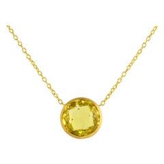 Ico & the Bird Fine Jewelry 10 Carat Lemon Quartz 22k Gold Necklace