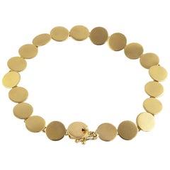 Ico & the Bird Fine Jewelry Sequin Dot  20 Karat Gold Bracelet