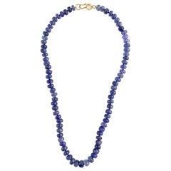 Ico & the Bird Fine Jewelry Tanzanite Moonstone 22-Karat Gold Necklace