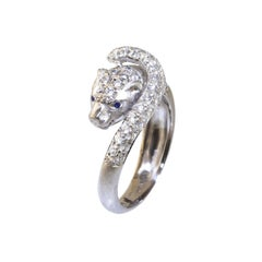 Ico & the Bird Fine Jewelry White Panther 18k Gold Diamond Ring