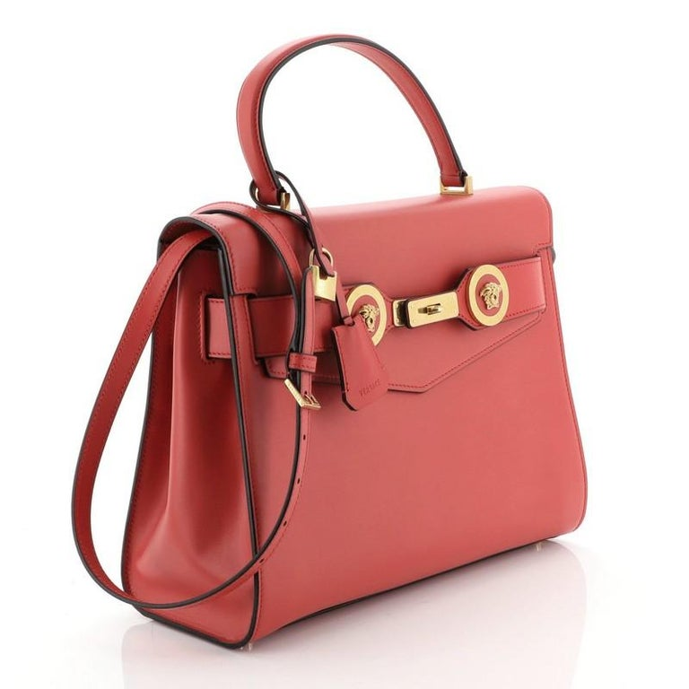 Icon Convertible Top Handle Bag Leather Medium In Good Condition For Sale In New York, NY