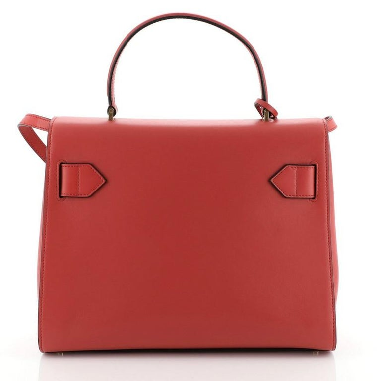 Women's or Men's Icon Convertible Top Handle Bag Leather Medium For Sale
