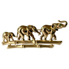 Iconic 18 Karat Yellow Gold Elephant Brooch, by Cartier