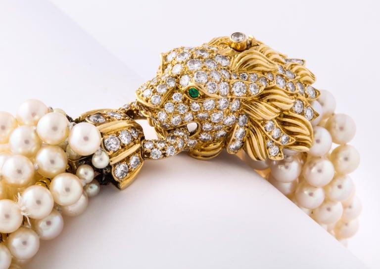 The Jeane Vanderbilt Lion Bracelet by Van Cleef Arpels For Sale 6