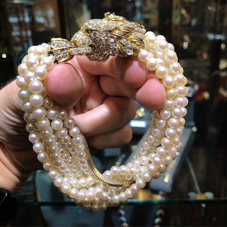 The Jeane Vanderbilt Lion Bracelet by Van Cleef Arpels For Sale 11