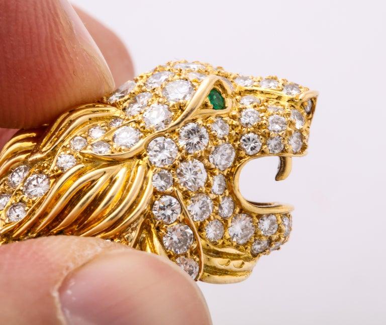 The Jeane Vanderbilt Lion Bracelet by Van Cleef Arpels In Excellent Condition For Sale In New York, NY