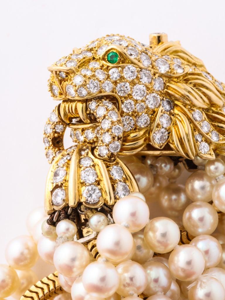 The Jeane Vanderbilt Lion Bracelet by Van Cleef Arpels For Sale 1