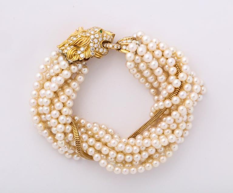 The Jeane Vanderbilt Lion Bracelet by Van Cleef Arpels For Sale 2