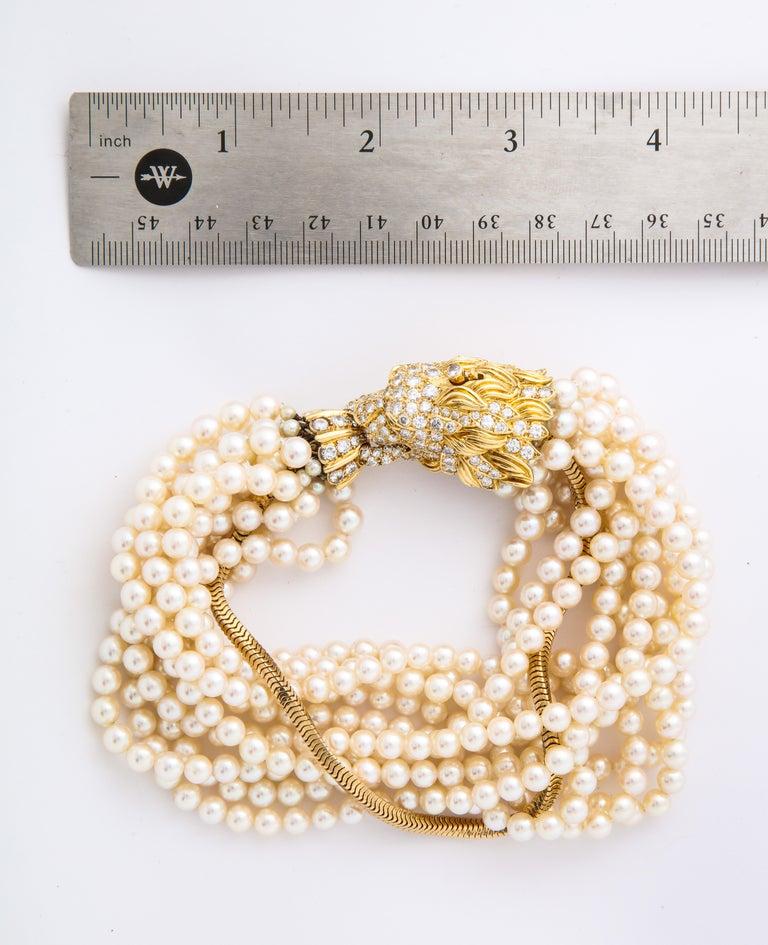 The Jeane Vanderbilt Lion Bracelet by Van Cleef Arpels For Sale 4