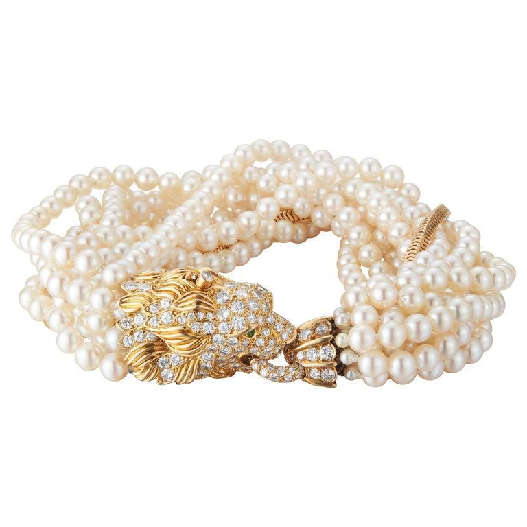 The Jeane Vanderbilt Lion Bracelet by Van Cleef Arpels For Sale