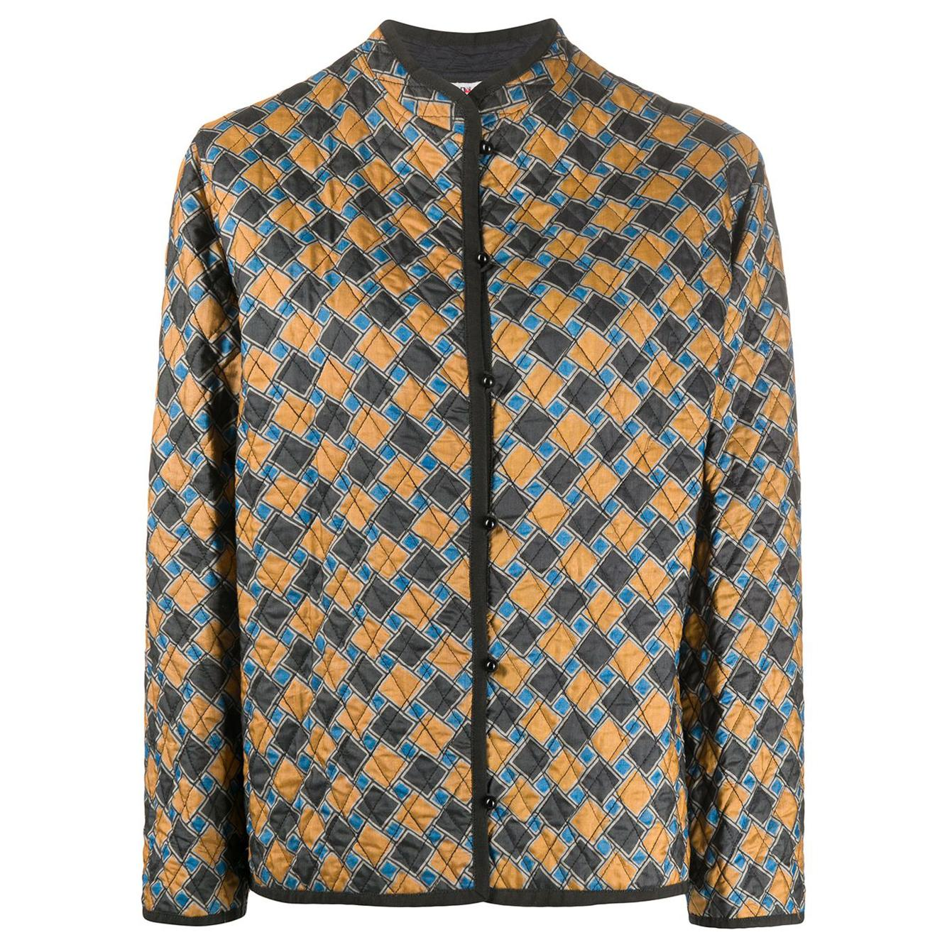 Iconic 1970s Yves Saint Laurent YSL Silk Quilted Jacket