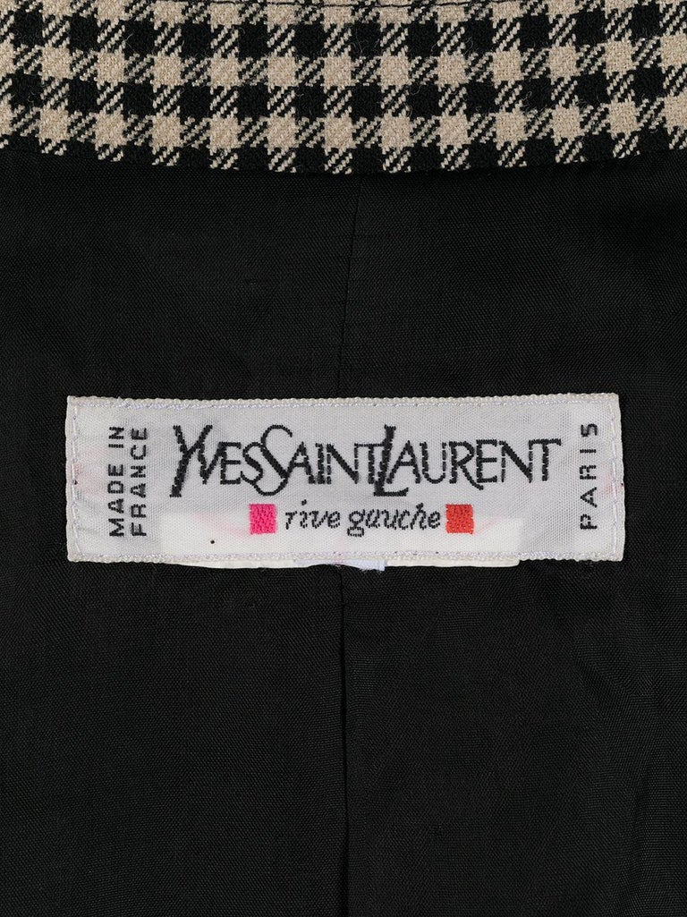 Women's Iconic 1980s Yves Saint Laurent YSL Black & Ivory Blazer Jacket For Sale