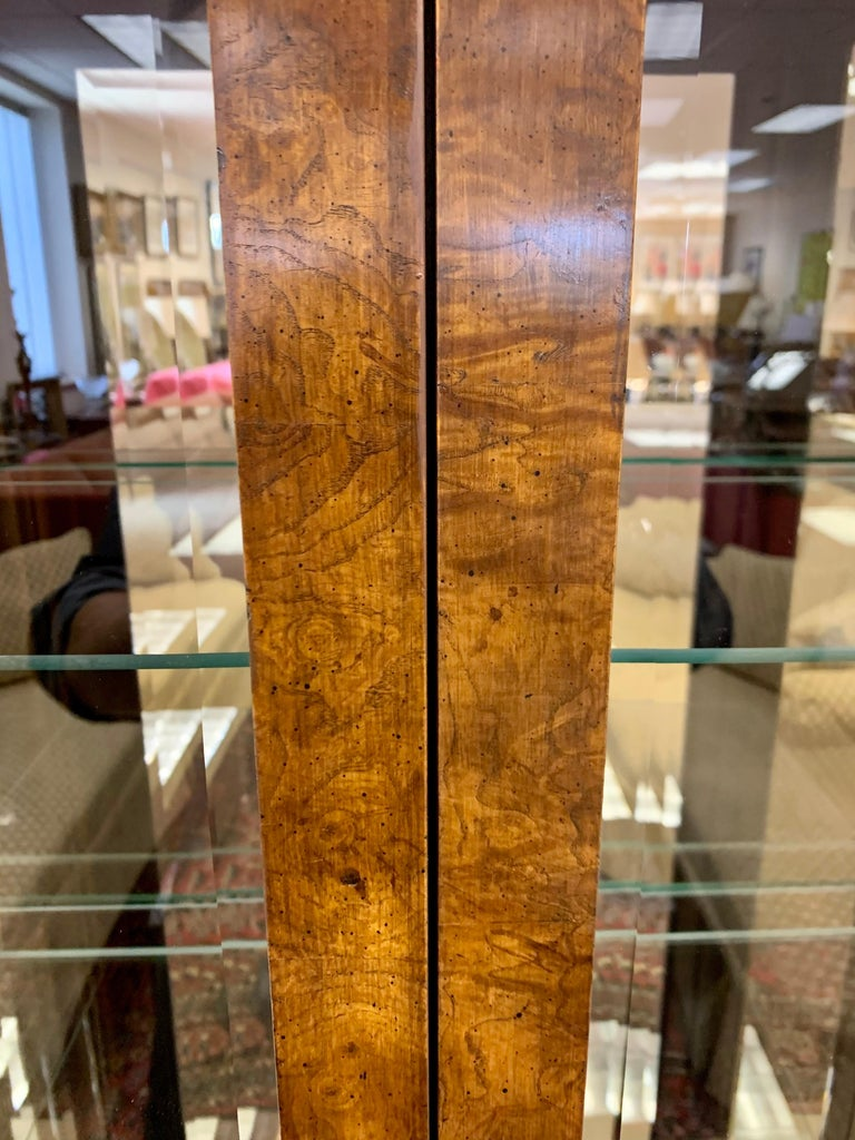 Iconic American of Martinsville Mid-Century Pair of Matching Campaign Vitrines In Good Condition For Sale In West Hartford, CT