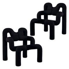 Iconic Armchairs by Terje Ekstrom, Norway, 1980s