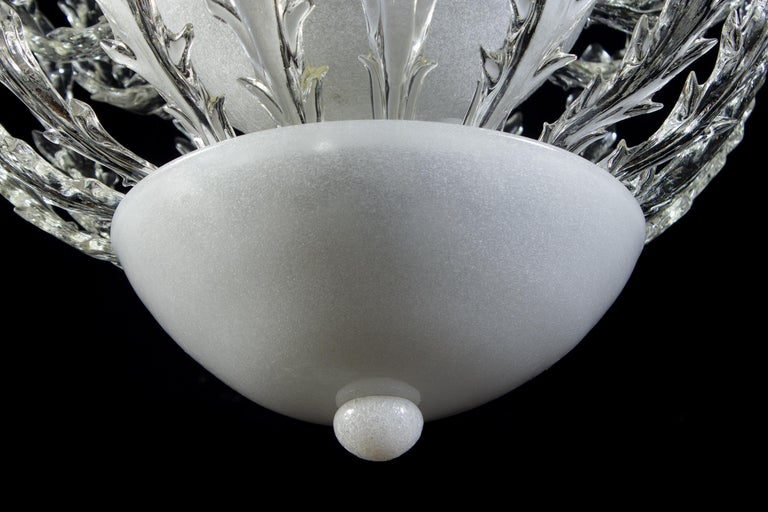 Iconic Art Deco Murano Glass Chandelier by Ercole Barovier, 1930s For Sale 4
