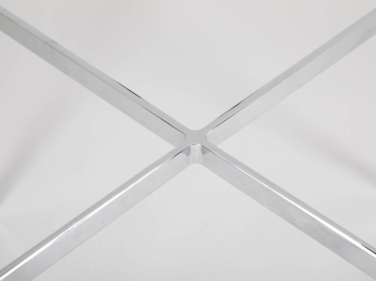 Iconic Barcelona Coffee Table by Mies van der Rohe for Knoll For Sale 4