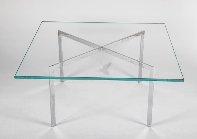 Bauhaus Iconic Barcelona Coffee Table by Mies van der Rohe for Knoll For Sale