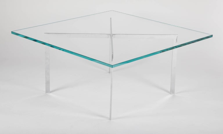 Polished Iconic Barcelona Coffee Table by Mies van der Rohe for Knoll For Sale