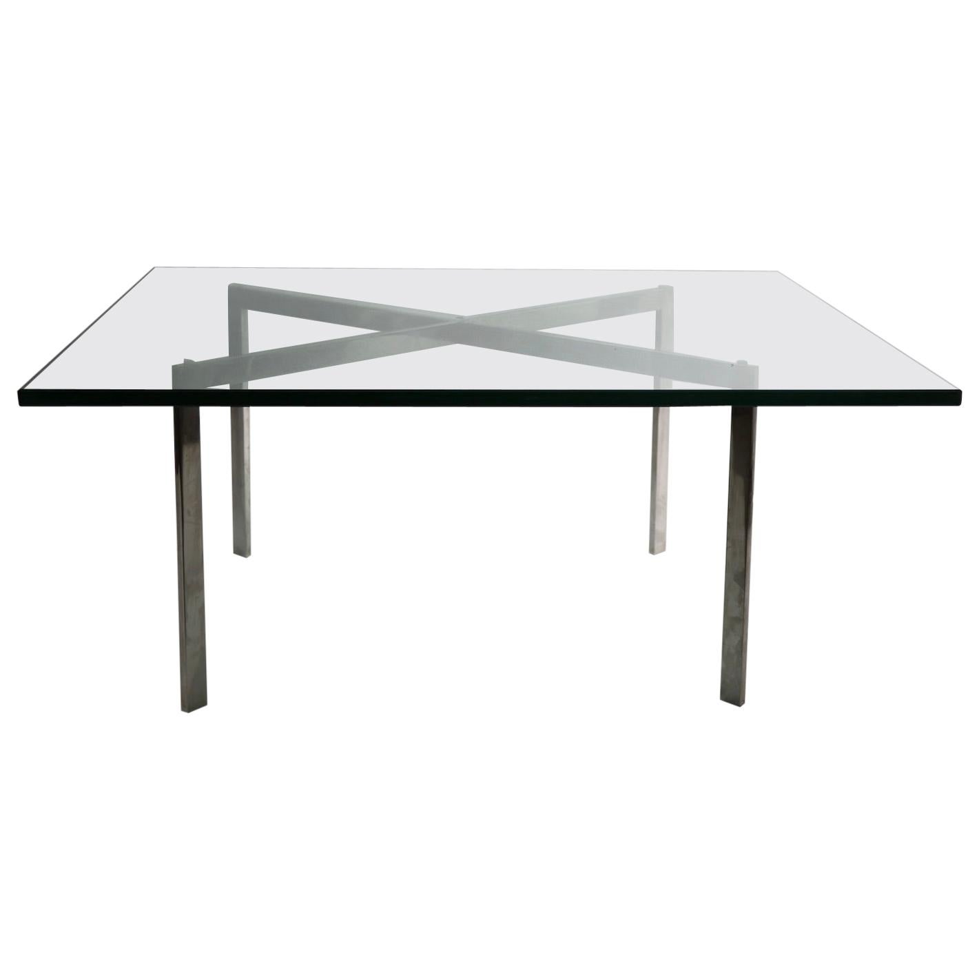 Barcelona Table with Stainless Steel Frame - 252