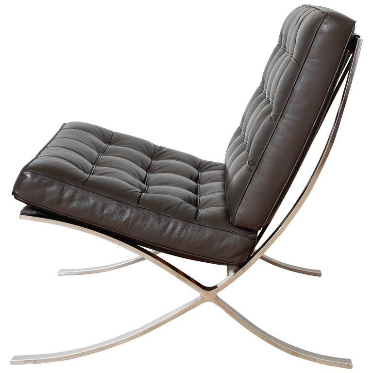 Iconic Barcelona Lounge Chair By Mies Van Der Rohe At 1stdibs