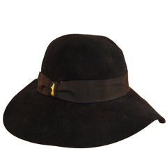 Iconic Borsalino wide-brimmed folard with grosgrain hatband