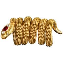 Iconic Bulgari Serpenti Ruby Bracelet