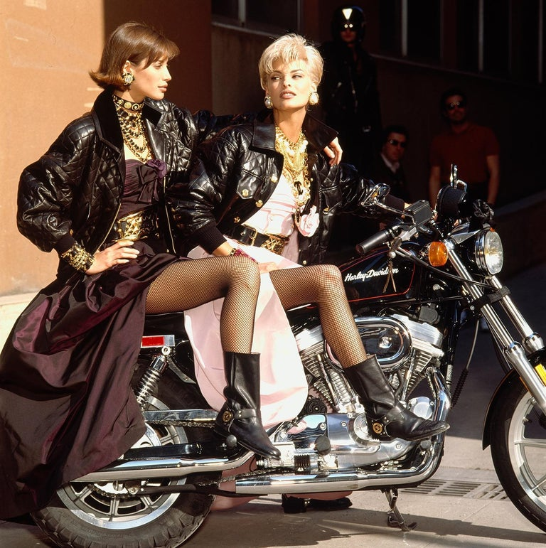 "Iconic Chanel Fall/Winter 1991 ""Motorcycle Collection"" Silk Taffeta Ball Gown  For Sale 5"