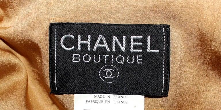 Iconic Chanel Golden Metallic 3D Structured Jacket Blazer For Sale 1